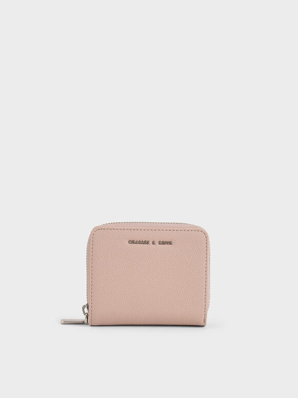 Small Zip-Around Wallet, Pink, hi-res