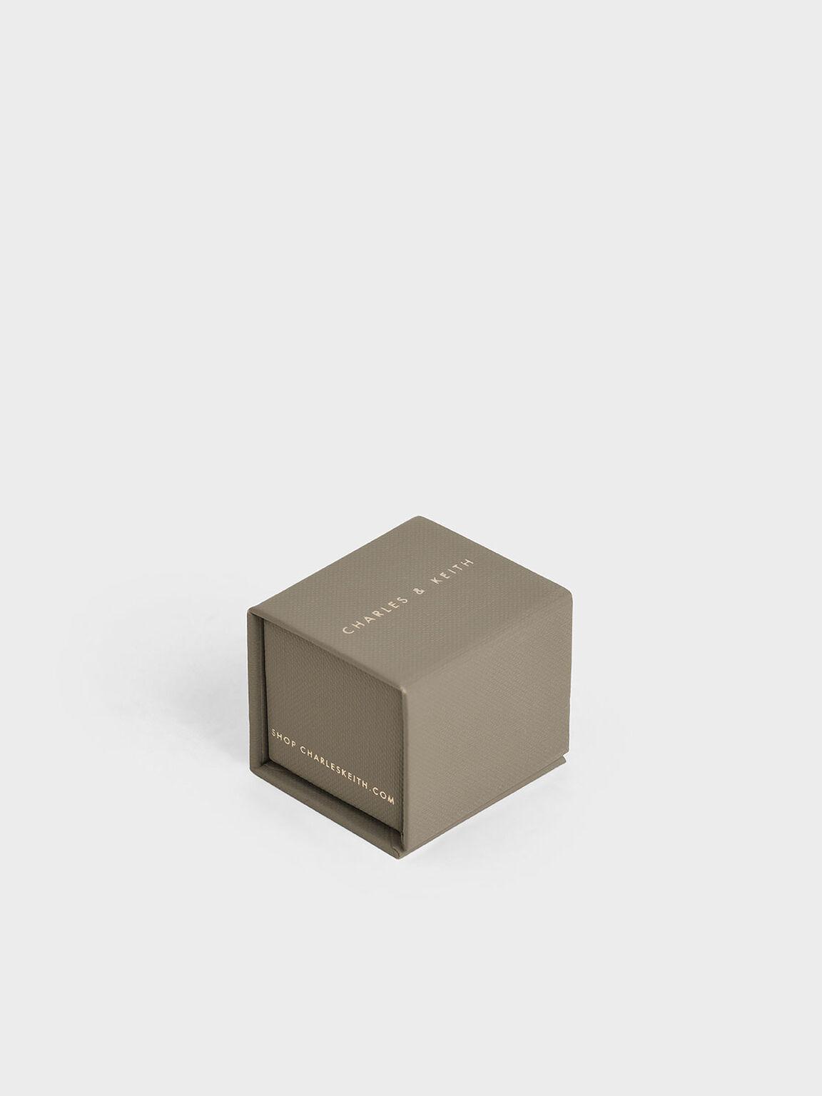 Swarovski® Crystal Open Ring, Gold, hi-res