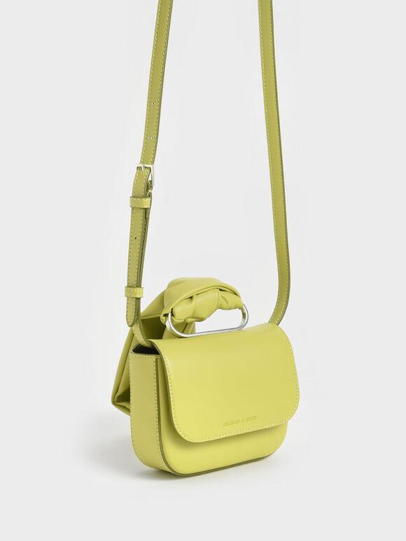 Knotted Wristlet Bag, Lime, hi-res