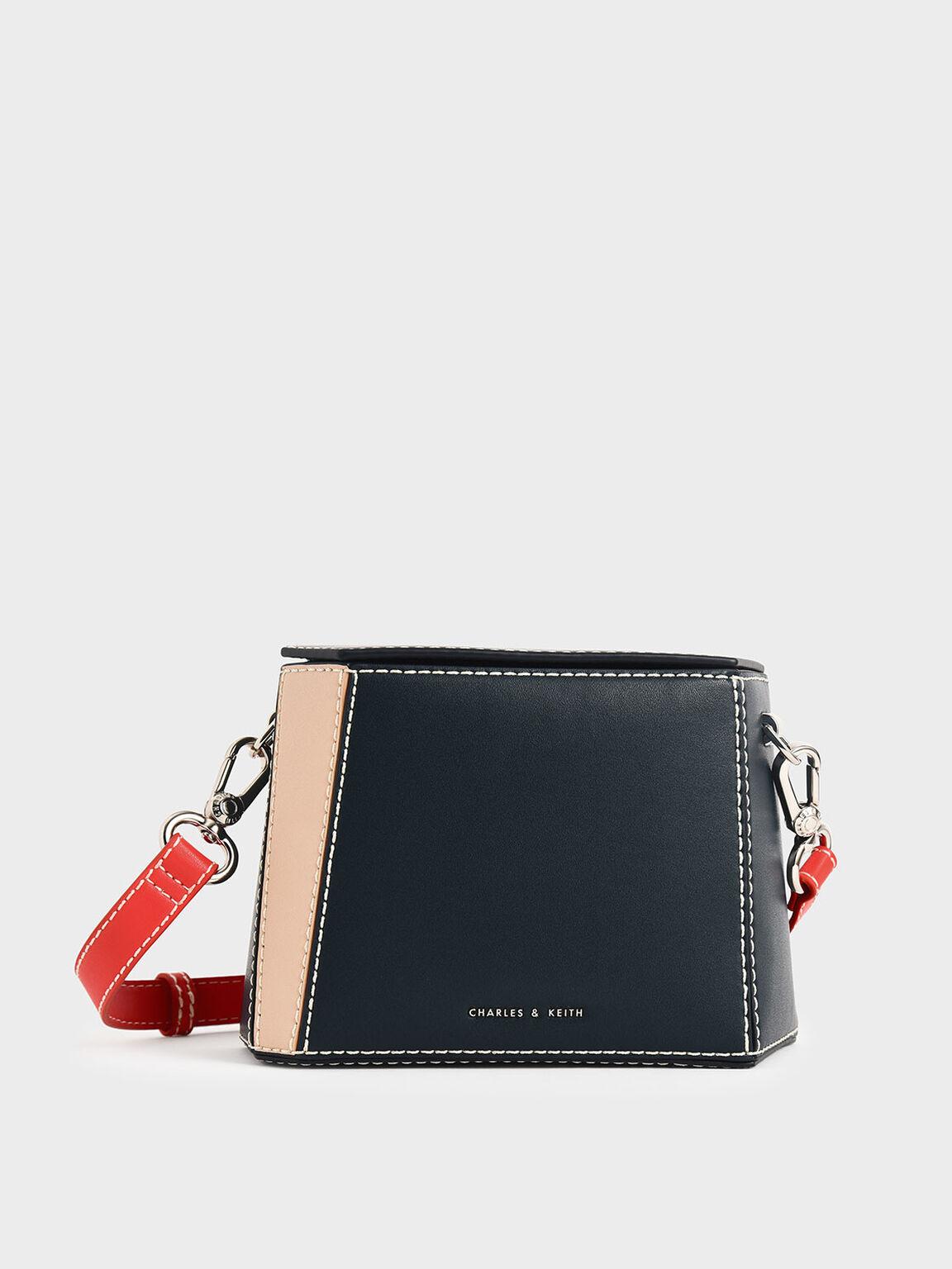 Two-Tone Boxy Bag, Teal, hi-res