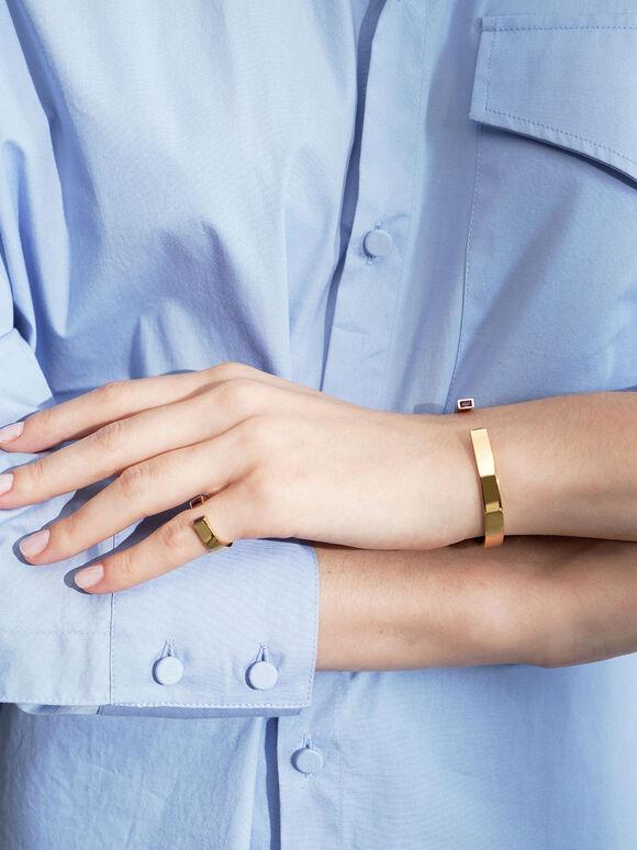 Swarovski® Crystal Cuff Bracelet, Gold, hi-res