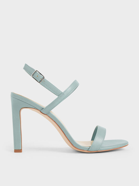 Slingback Stiletto Heel Sandals, Green, hi-res