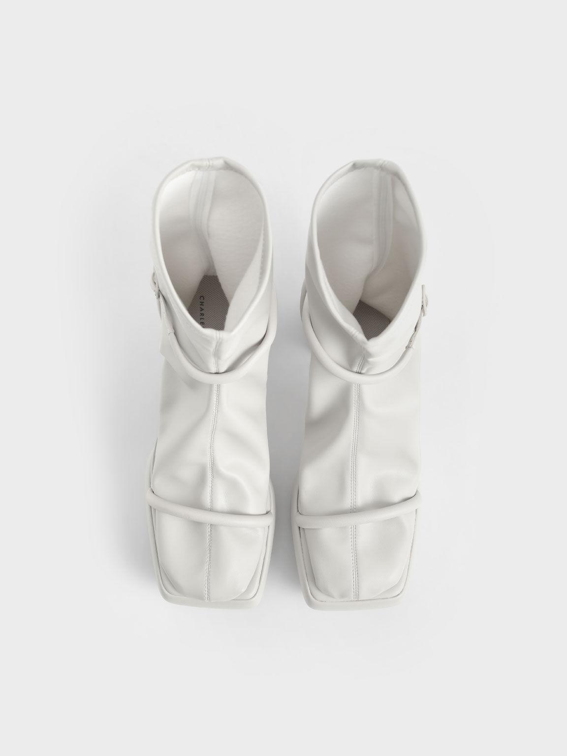 Lucile Platform Calf Boots, Grey, hi-res