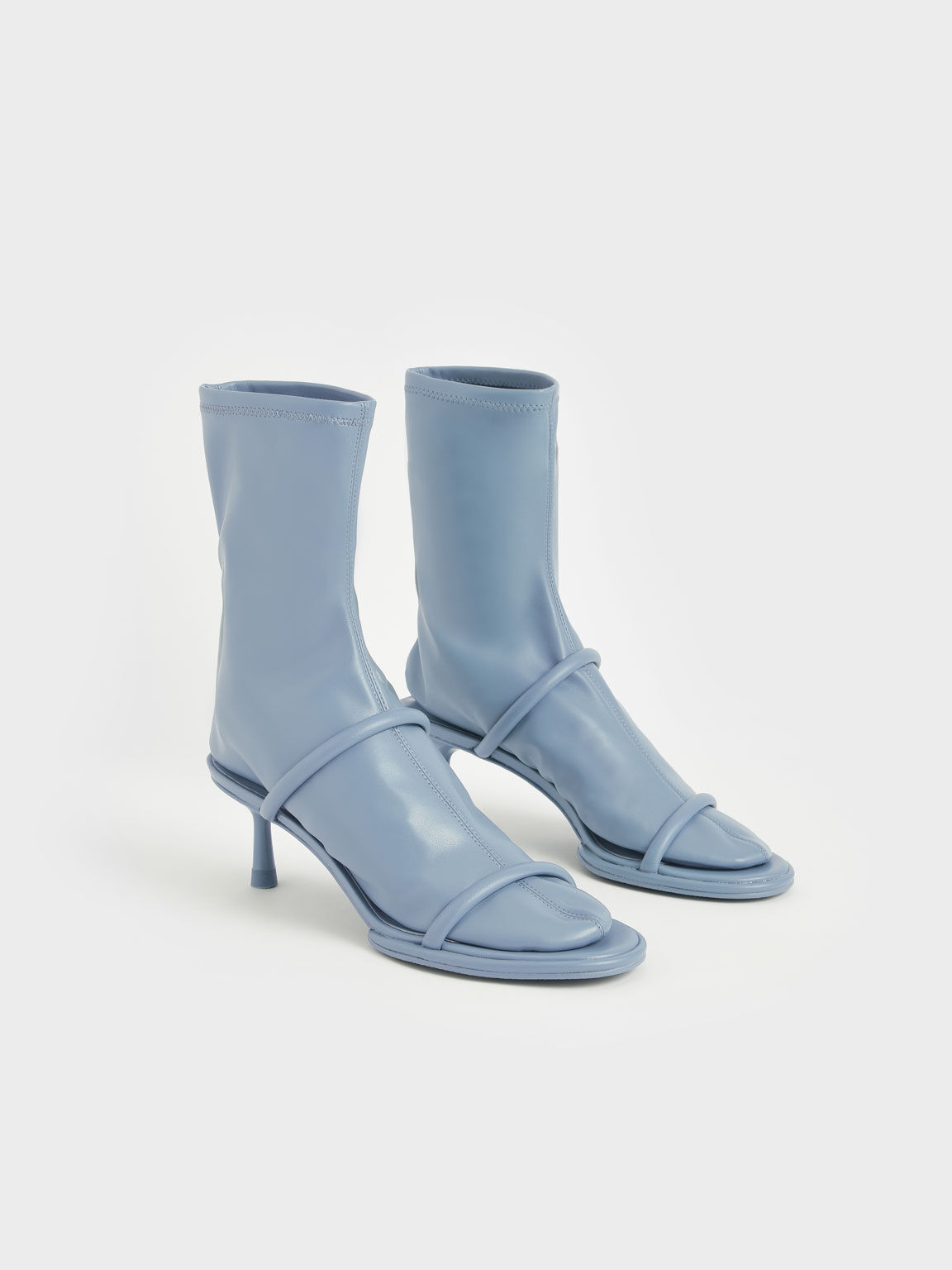 Lucile Stiletto Calf Boots, Blue, hi-res