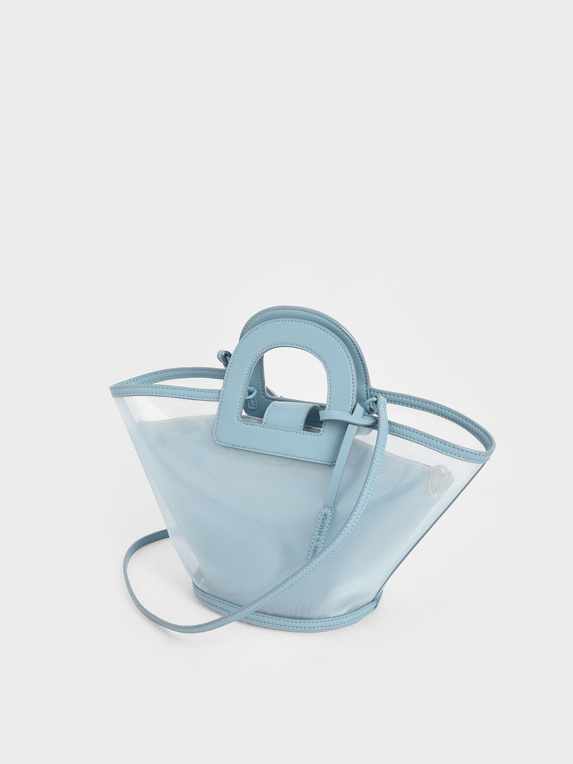 Mesh Trapeze Bag, Blue, hi-res
