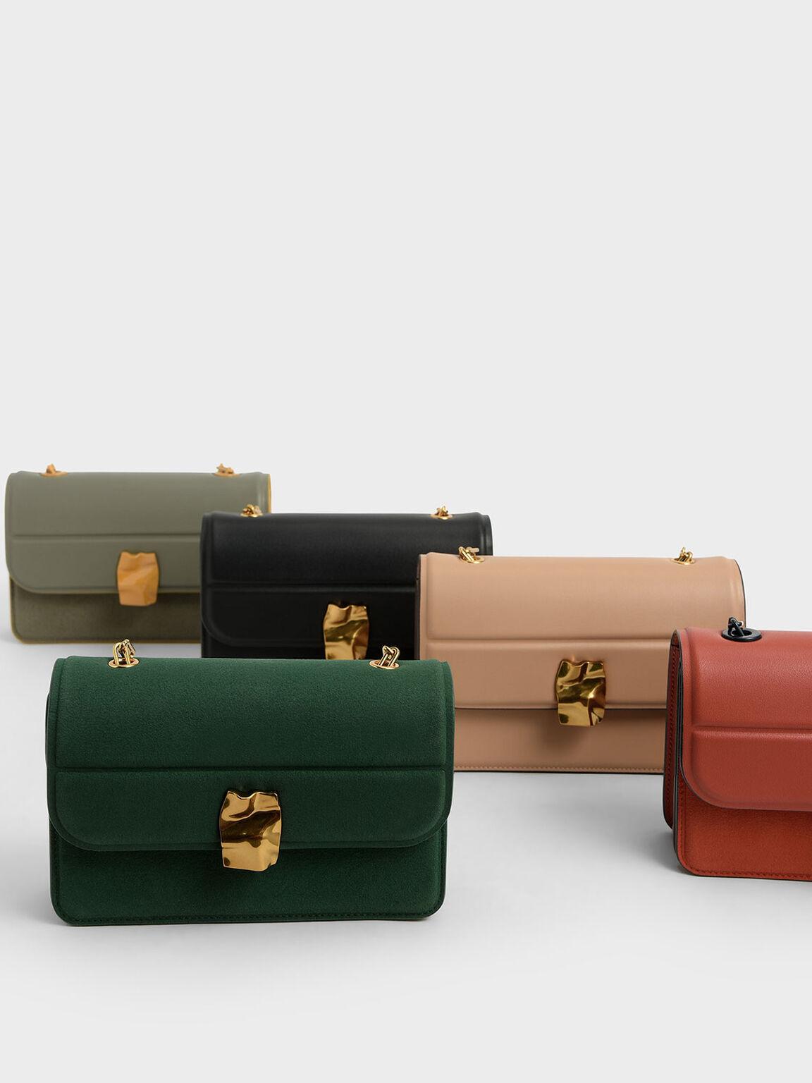 Textured Mini Wallet, Beige, hi-res