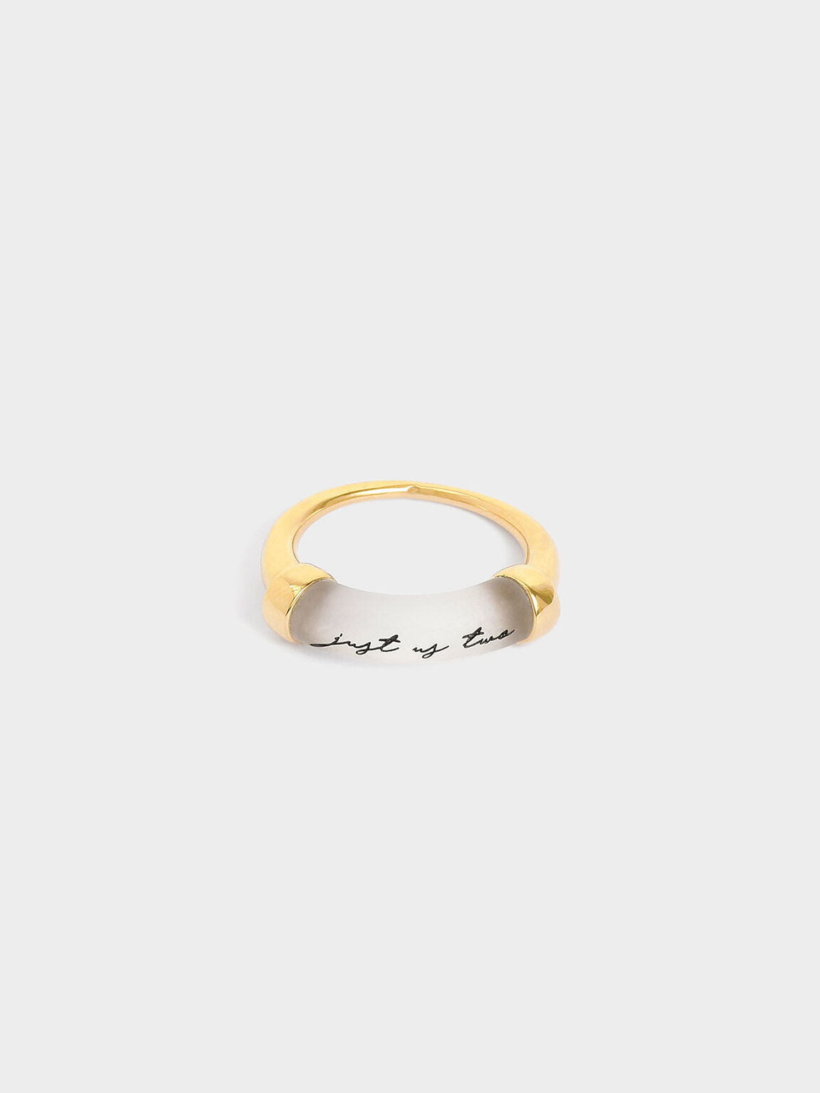 """""""Just Us Two"""" Printed Ring, Gold, hi-res"""