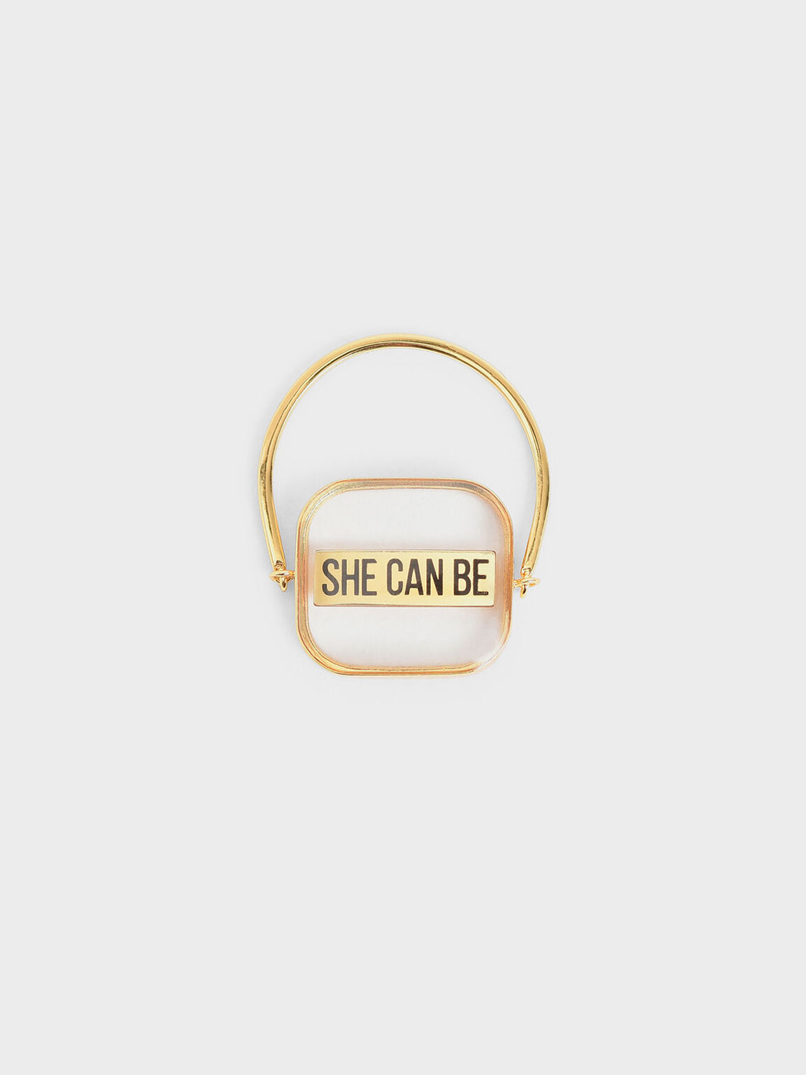 Purpose Collection - 'She Can Be' Ring, Gold, hi-res