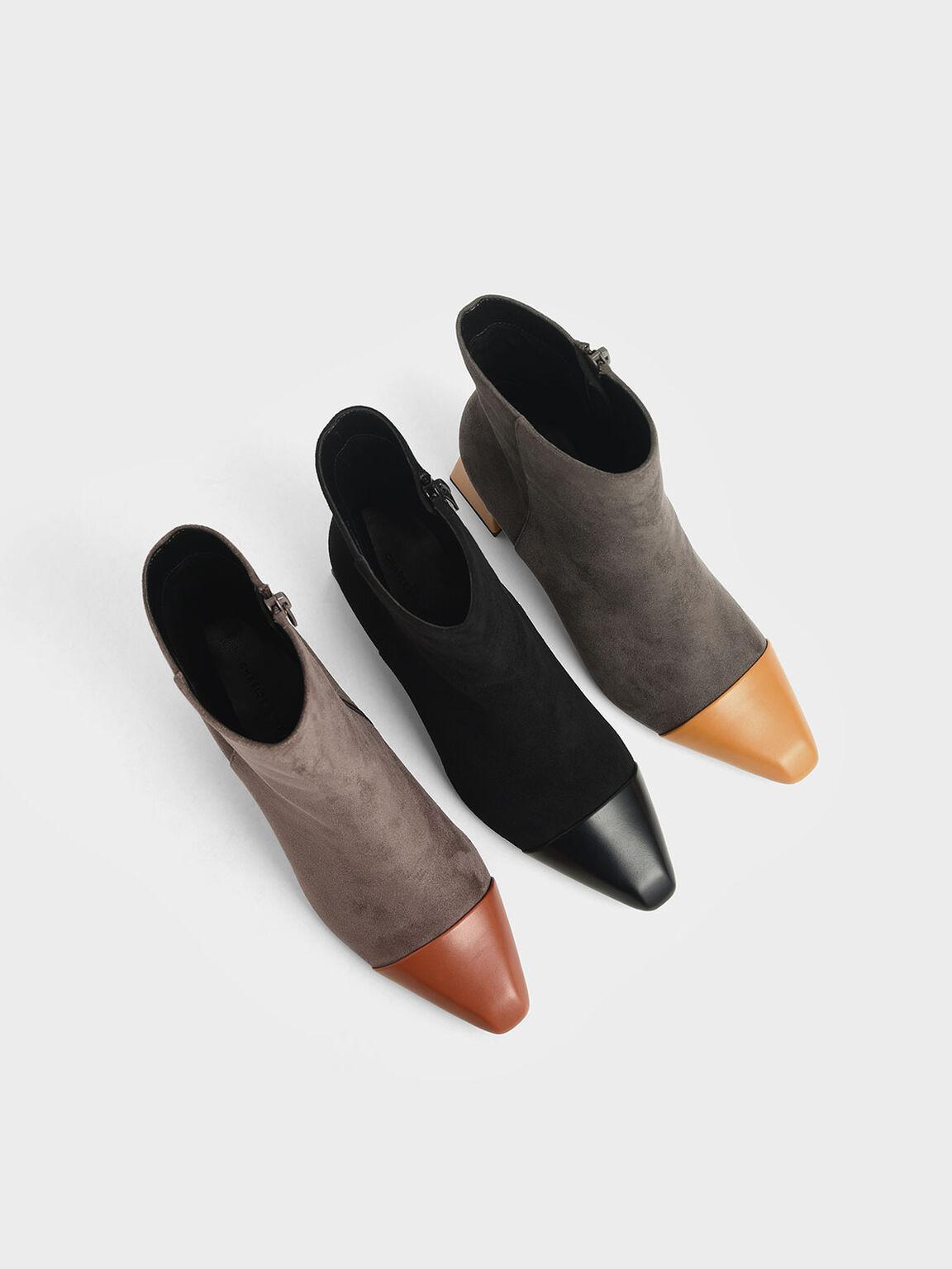 Textured Calf Boots, Black, hi-res