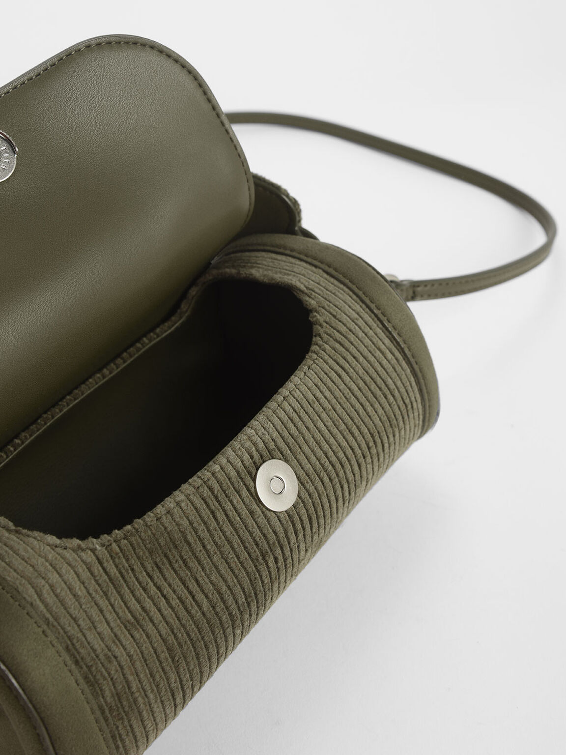 Corduroy Mini Duffle Bag, Olive, hi-res