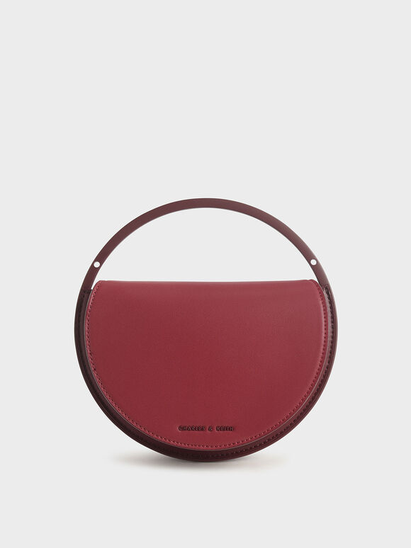Semi-Circle Clutch, Rose, hi-res