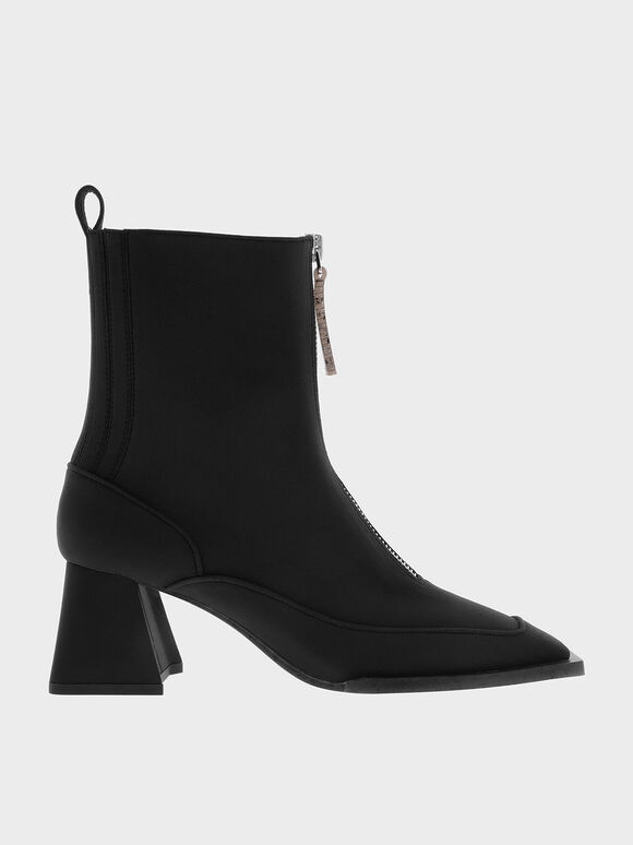 The Anniversary Series: Rylee Recycled Nylon Ankle Boots, Black, hi-res