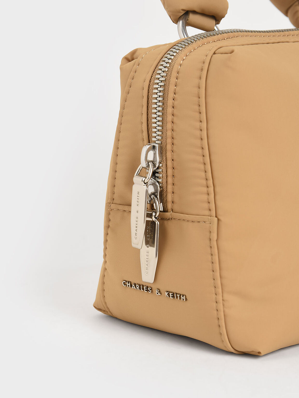 Knotted Boxy Bag, Sand, hi-res