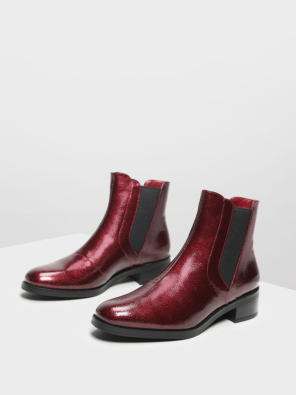 Classic Ankle Boots, Red, hi-res