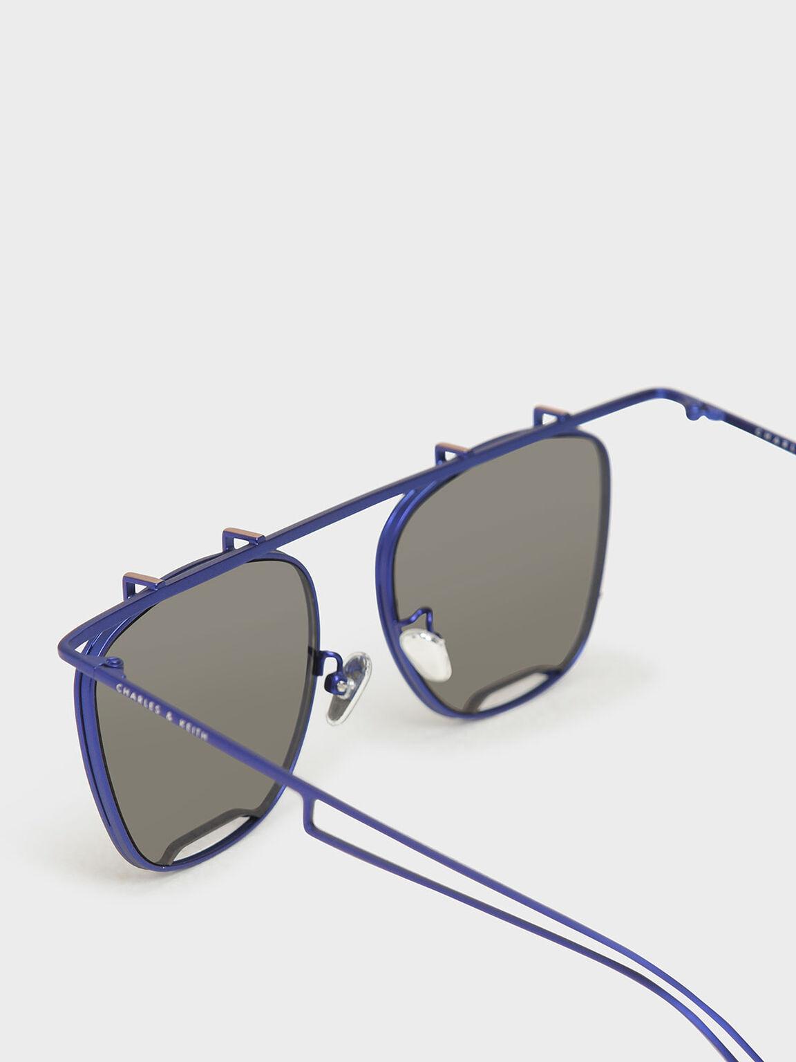 Metal Frame Aviators, Blue, hi-res