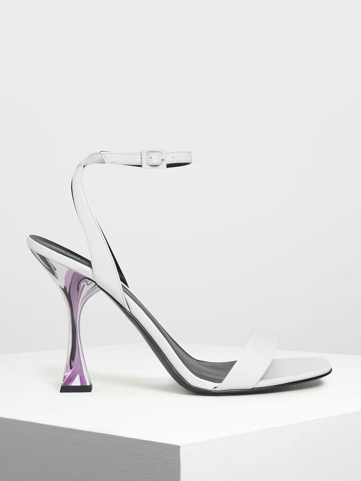Sculptural Heels, White, hi-res