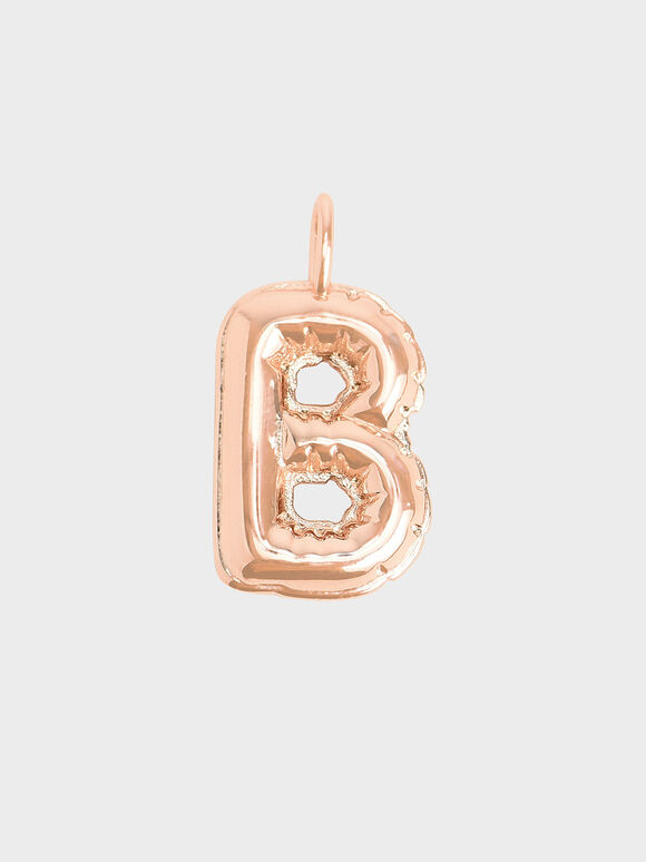 Alphabet 'B' Charm, Rose Gold, hi-res