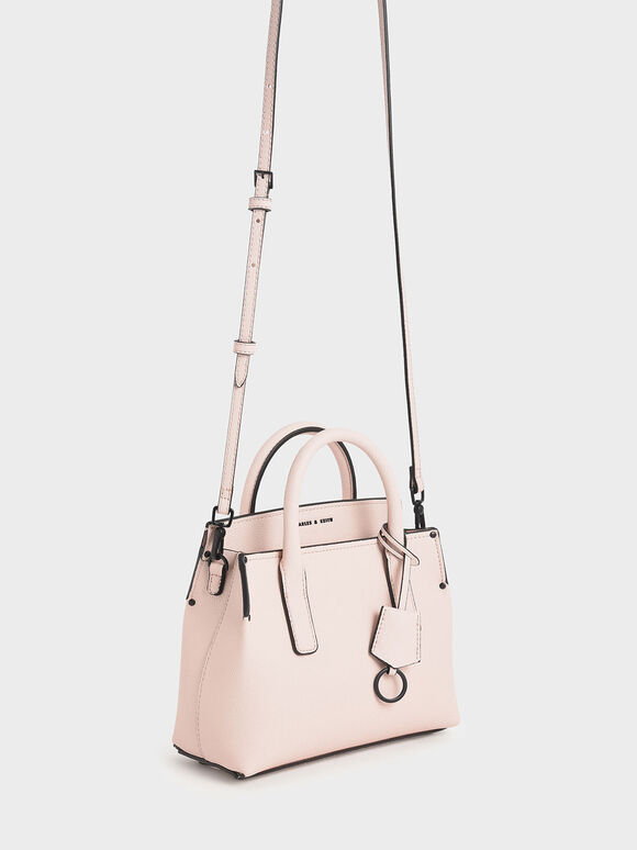 Double Handle Tote Bag, Light Pink, hi-res