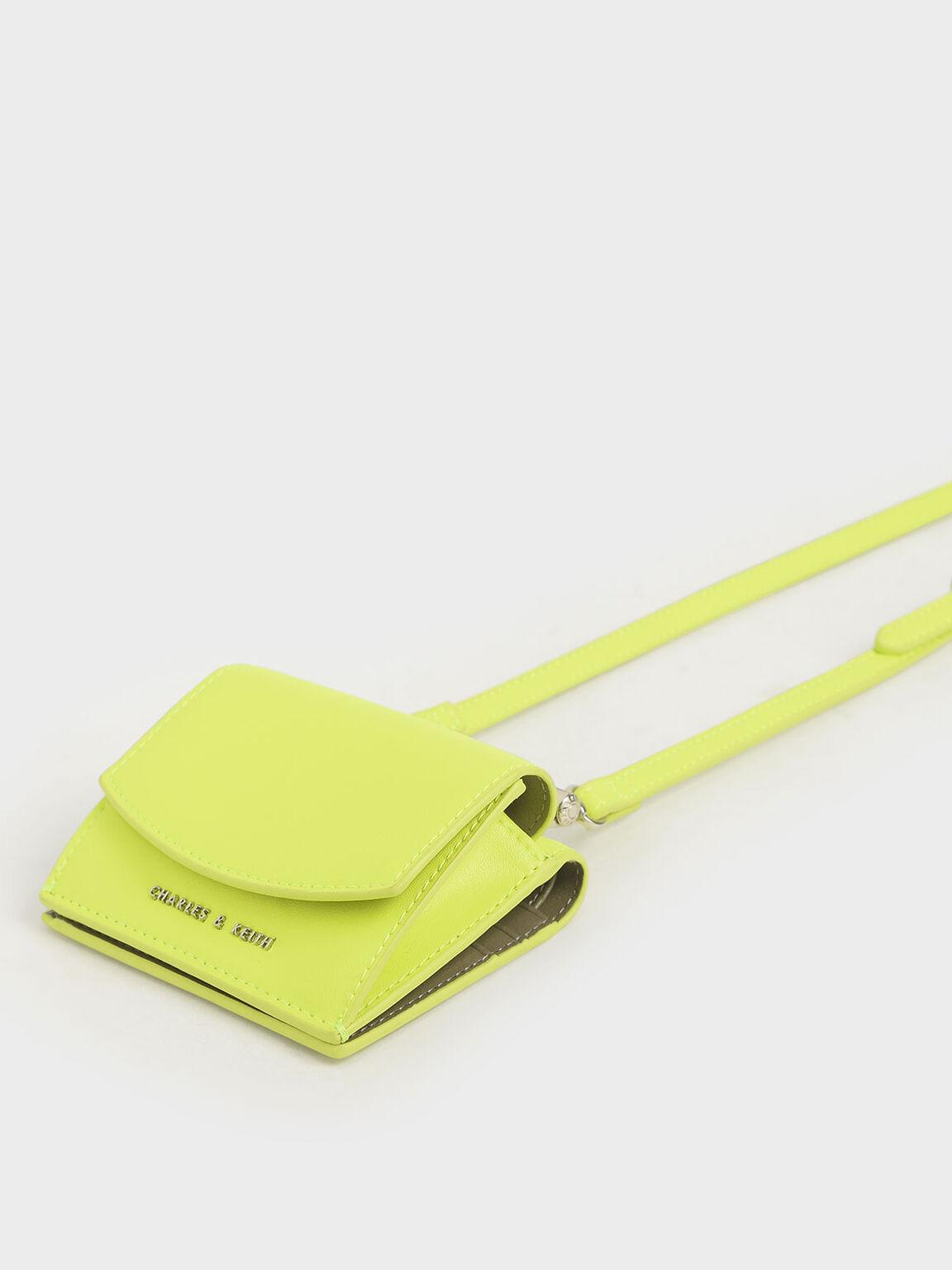 Mini Short Wallet, Neon Yellow, hi-res