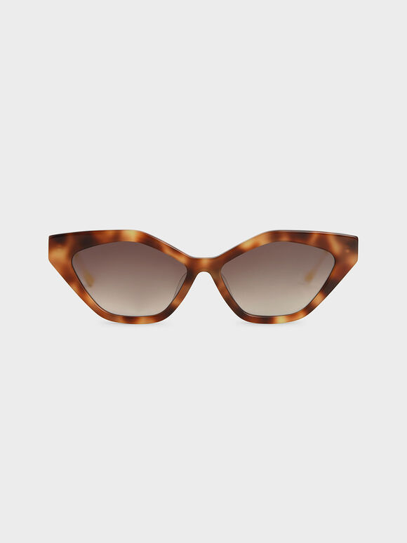 Cat-Eye Tortoiseshell Acetate Sunglasses, T. Shell, hi-res