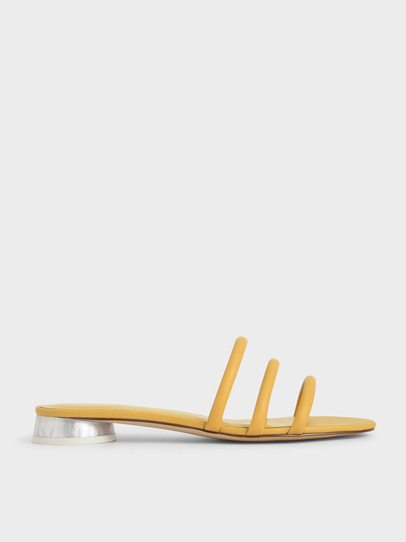 Tubular Mules, Yellow, hi-res