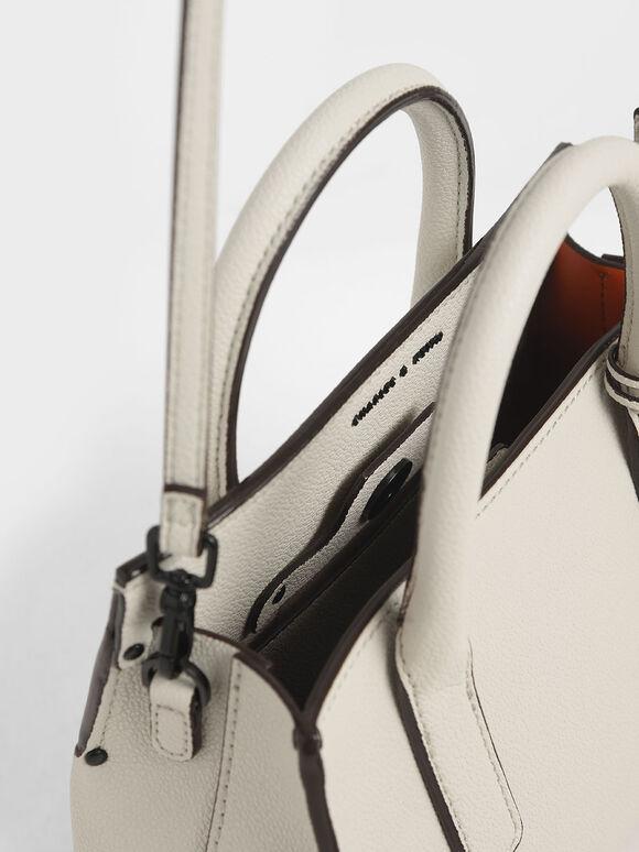 Double Handle Tote Bag, Cream, hi-res