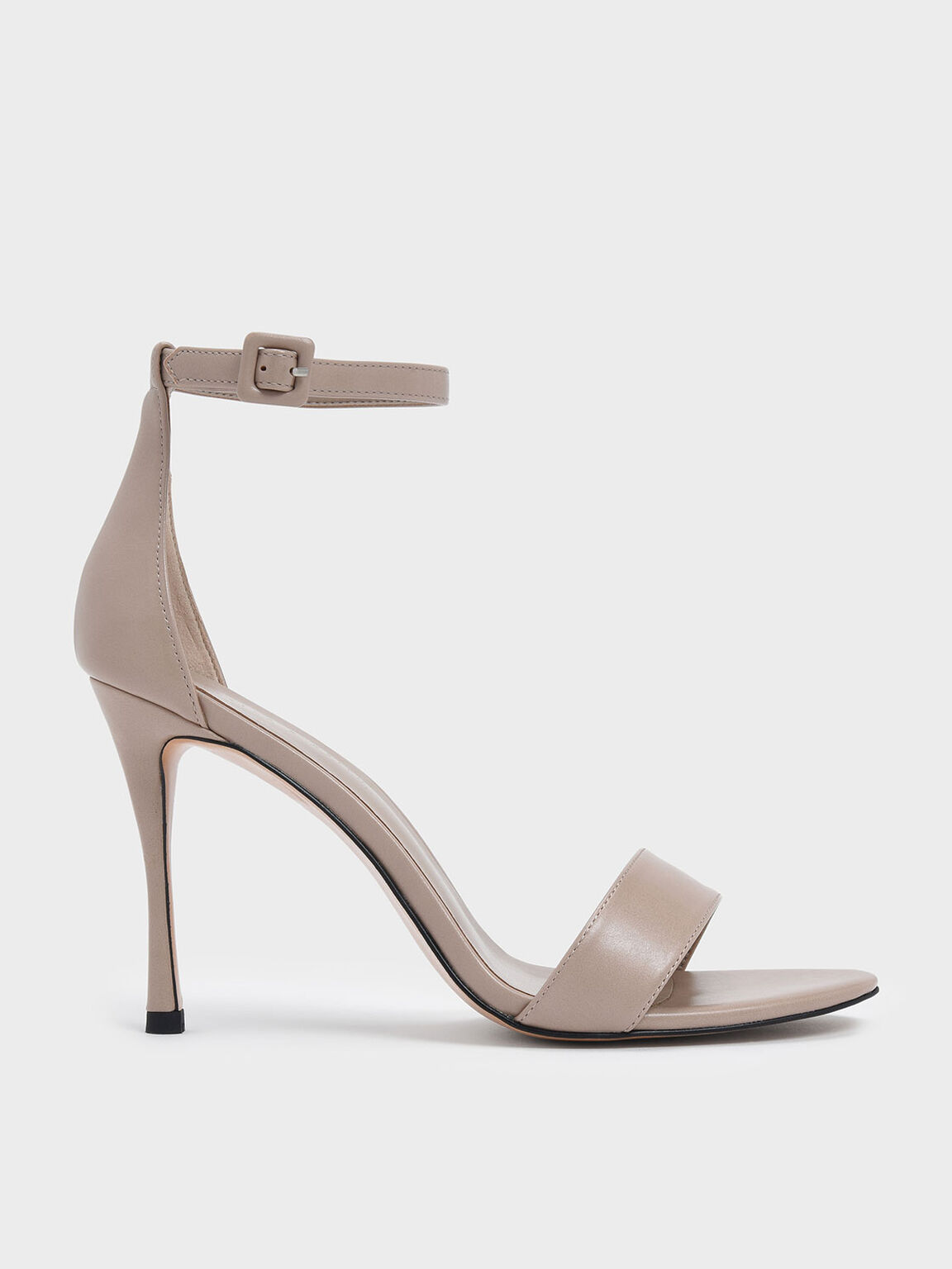 Ankle Strap Stiletto Heels, Nude, hi-res