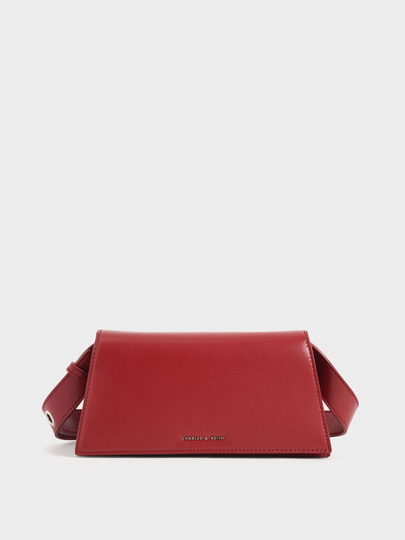Trapeze Shoulder Bag, Red, hi-res