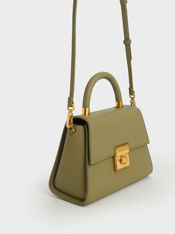 Trapeze Top Handle Bag, Sage Green, hi-res