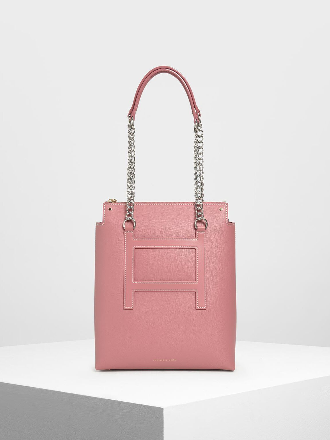 Long Chain Tote Bag, Pink, hi-res