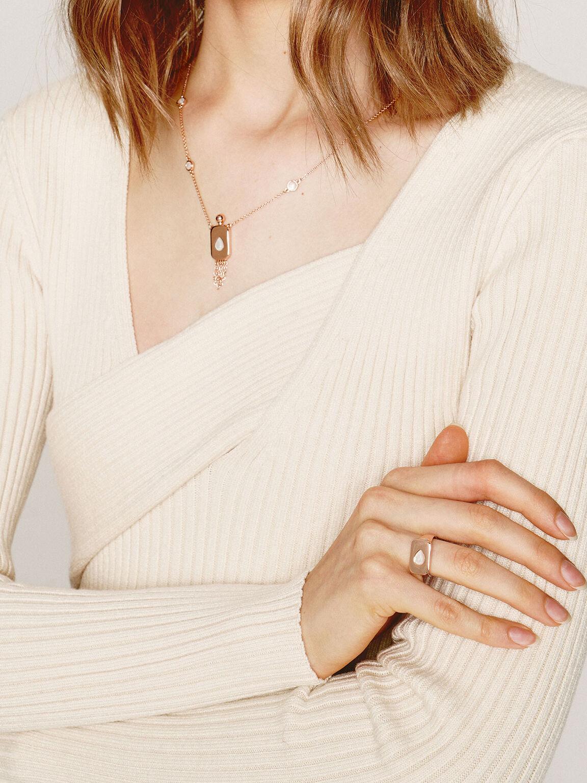 Moonstone Princess Necklace, Rose Gold, hi-res