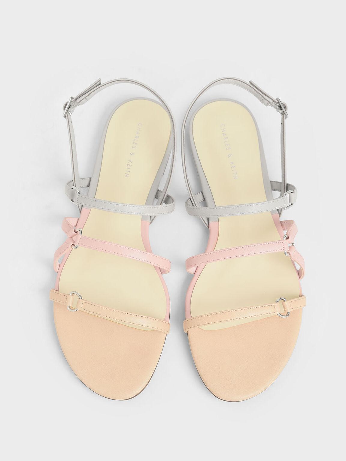 Tri-Strap Slingback Sandals, Multi, hi-res