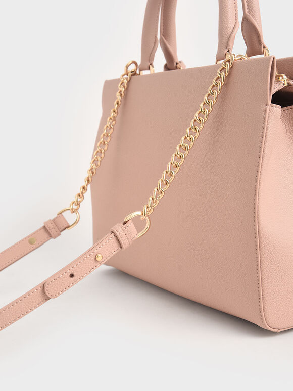 Large Double Handle Bag, Blush, hi-res