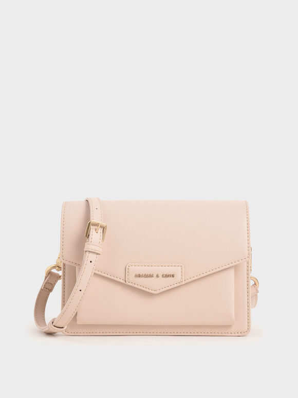 Envelope Crossbody Bag, Nude, hi-res