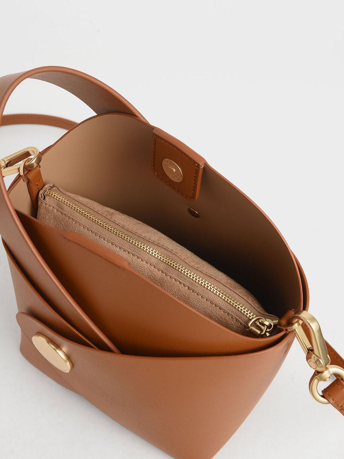 Mini Bucket Bag, Tan, hi-res