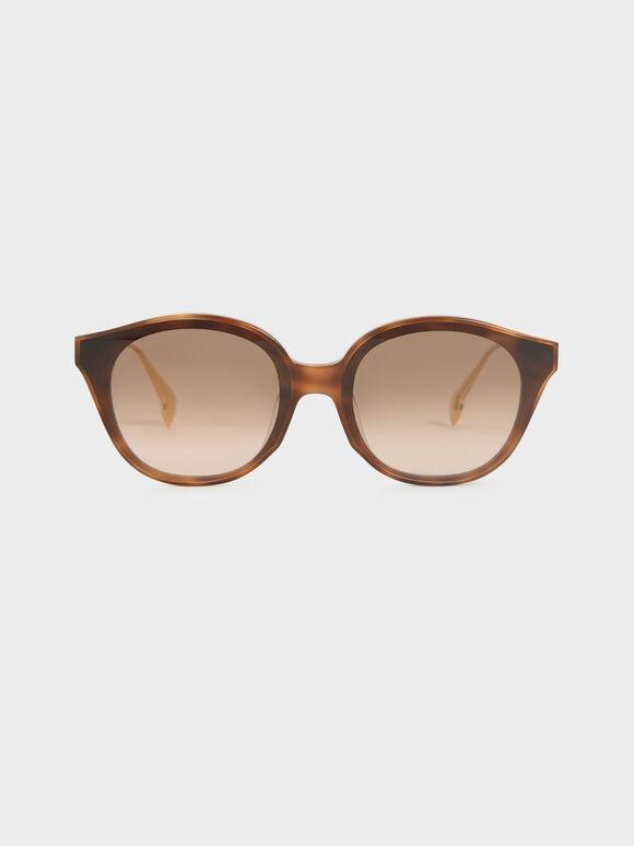 Acetate Cat-Eye Sunglasses, T. Shell, hi-res