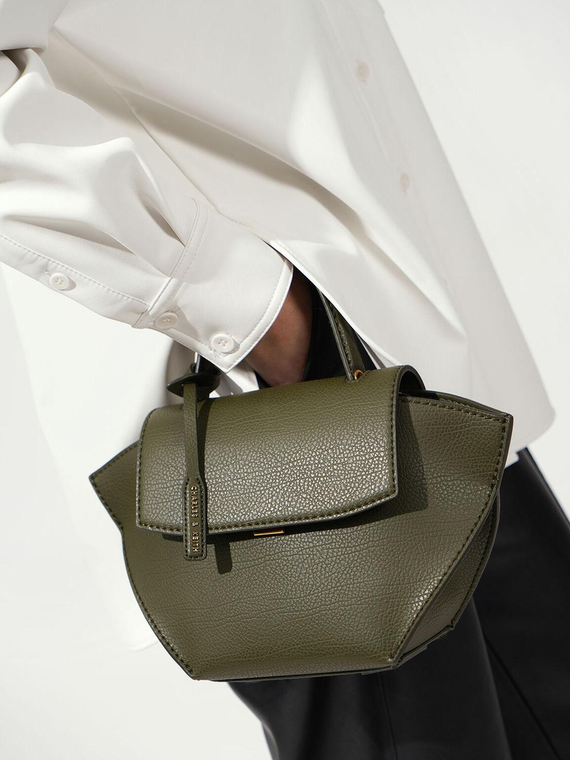 Trapeze Top Handle Bag, Olive, hi-res