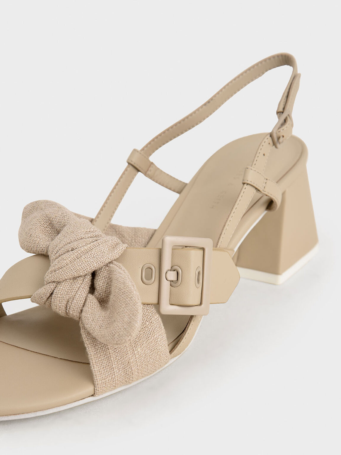 Purpose Collection -  Linen Knot Slingbacks, Taupe, hi-res