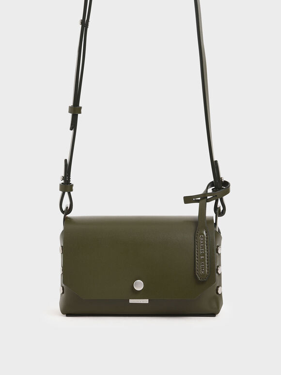 Mini Reversible Front Flap Crossbody Bag, Olive, hi-res