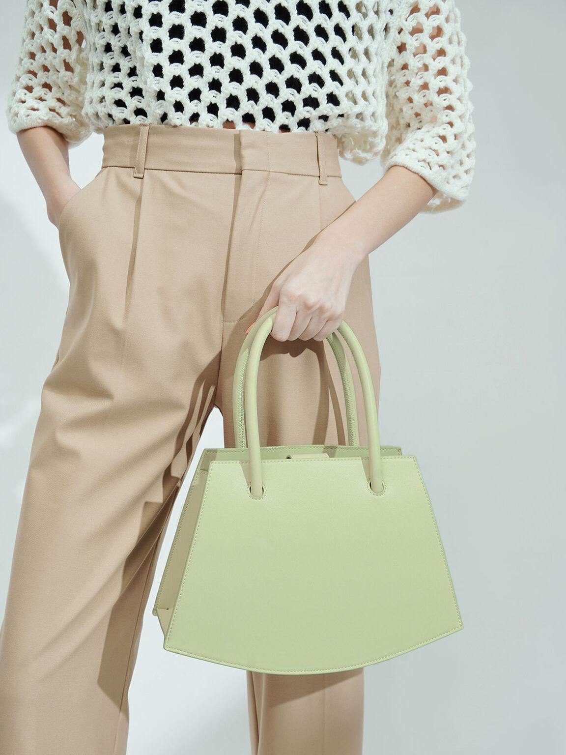 Curved Tote Bag, Mint Green, hi-res