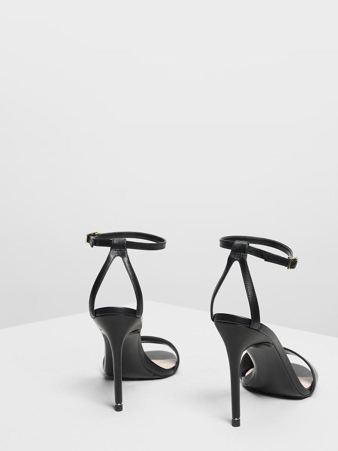 Classic Heeled Sandals, Black, hi-res