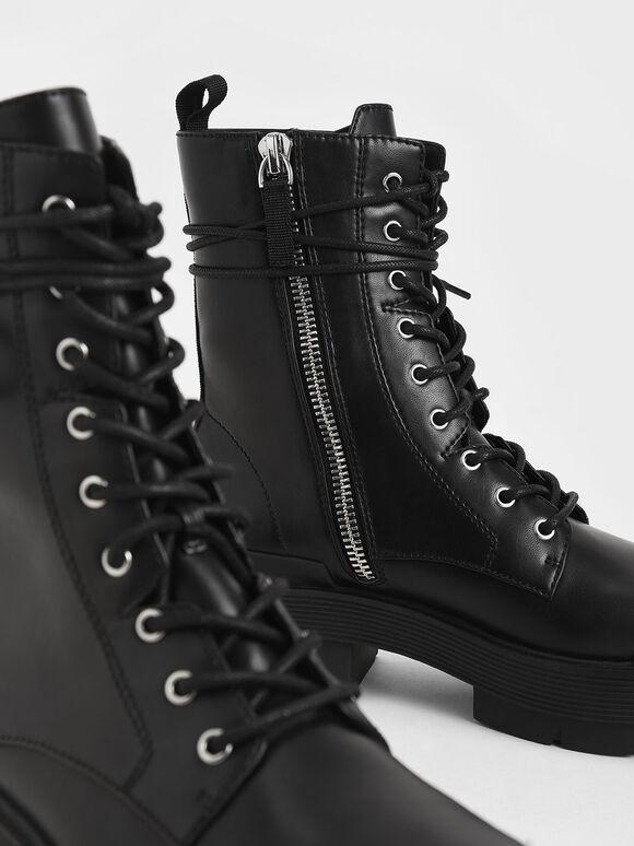 Combat Boots, Black, hi-res