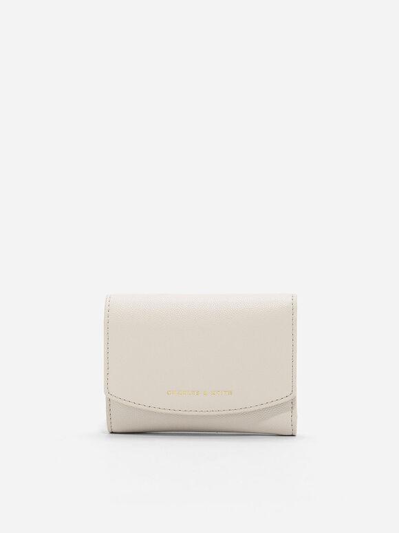 Mini Front Flap Wallet, Ivory, hi-res