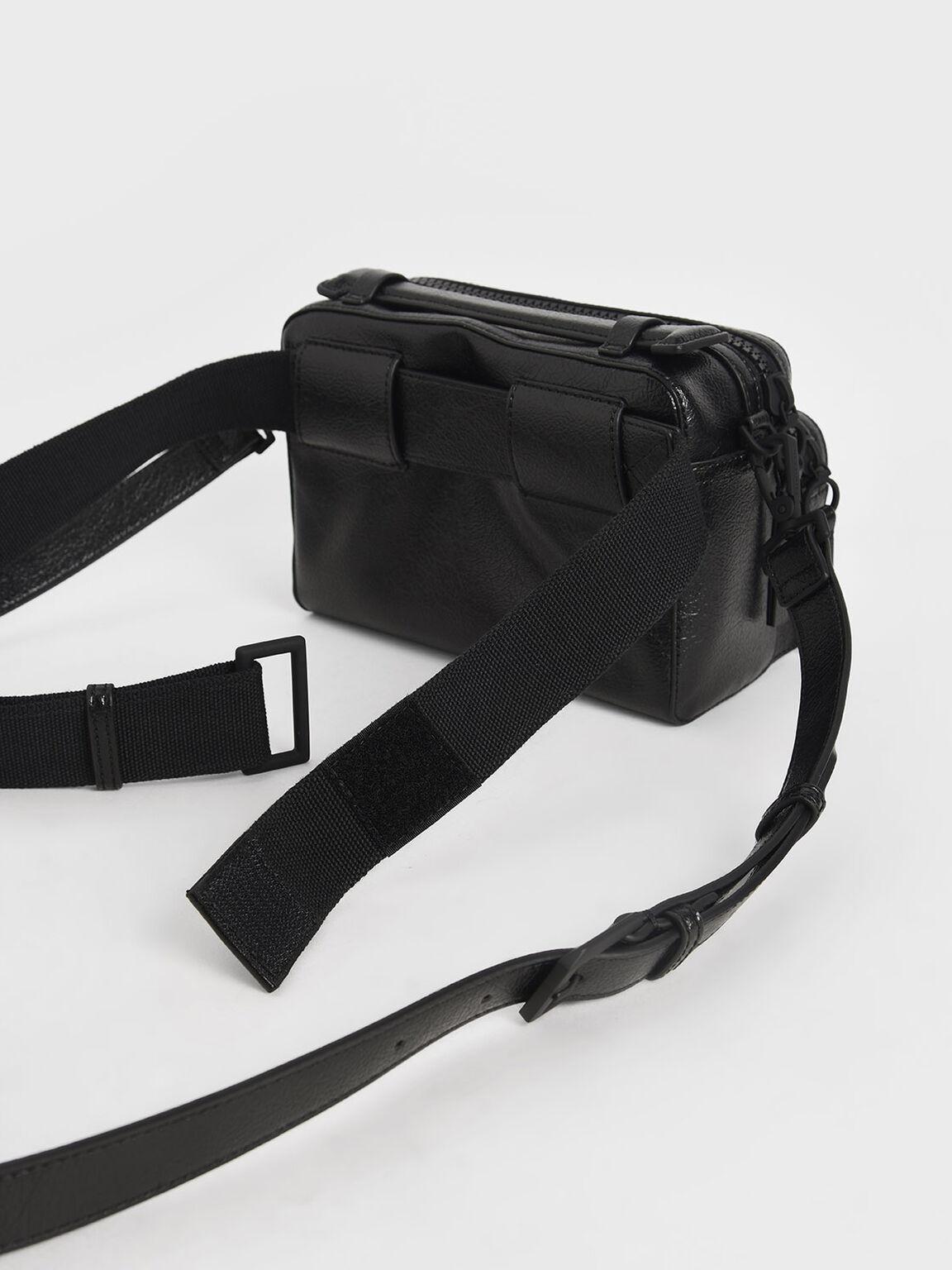 Double Zip Bag, Black, hi-res