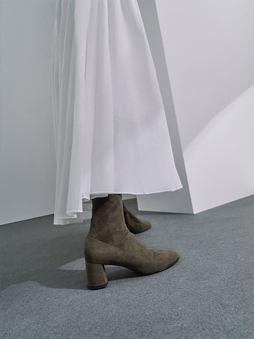 Sculptural Heel Ankle Boots