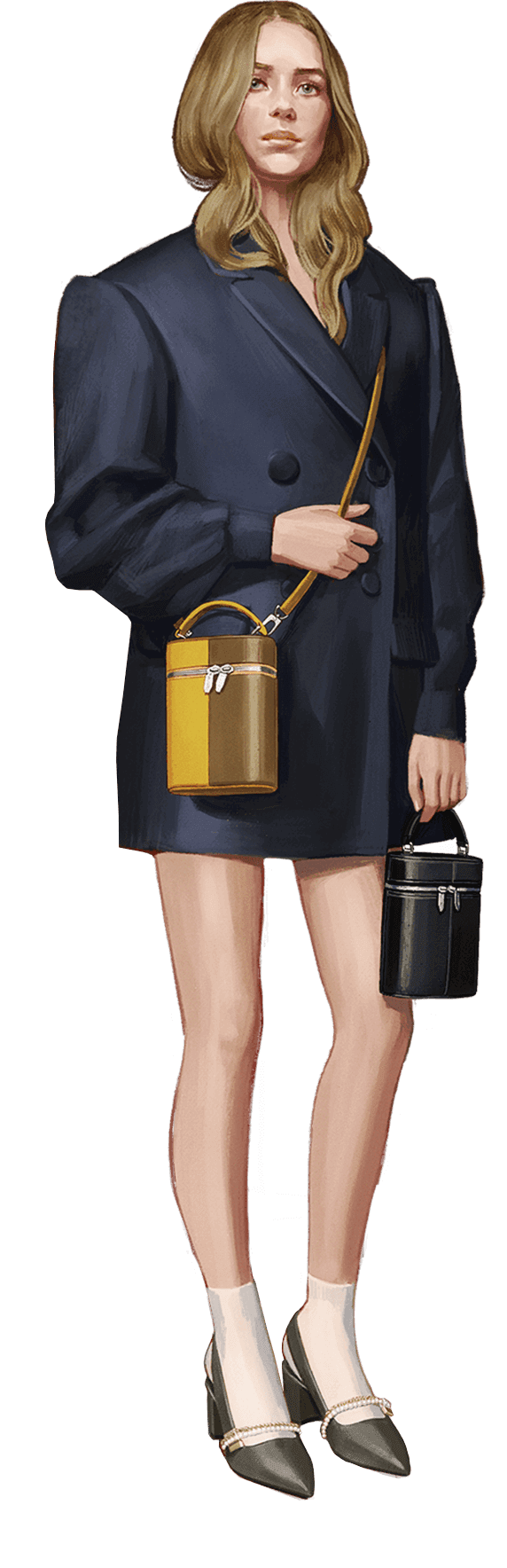 A compilation of illustrations from the CHARLES & KEITH Autumn Winter 2020 campaign - CHARLES & KEITH - Model 2