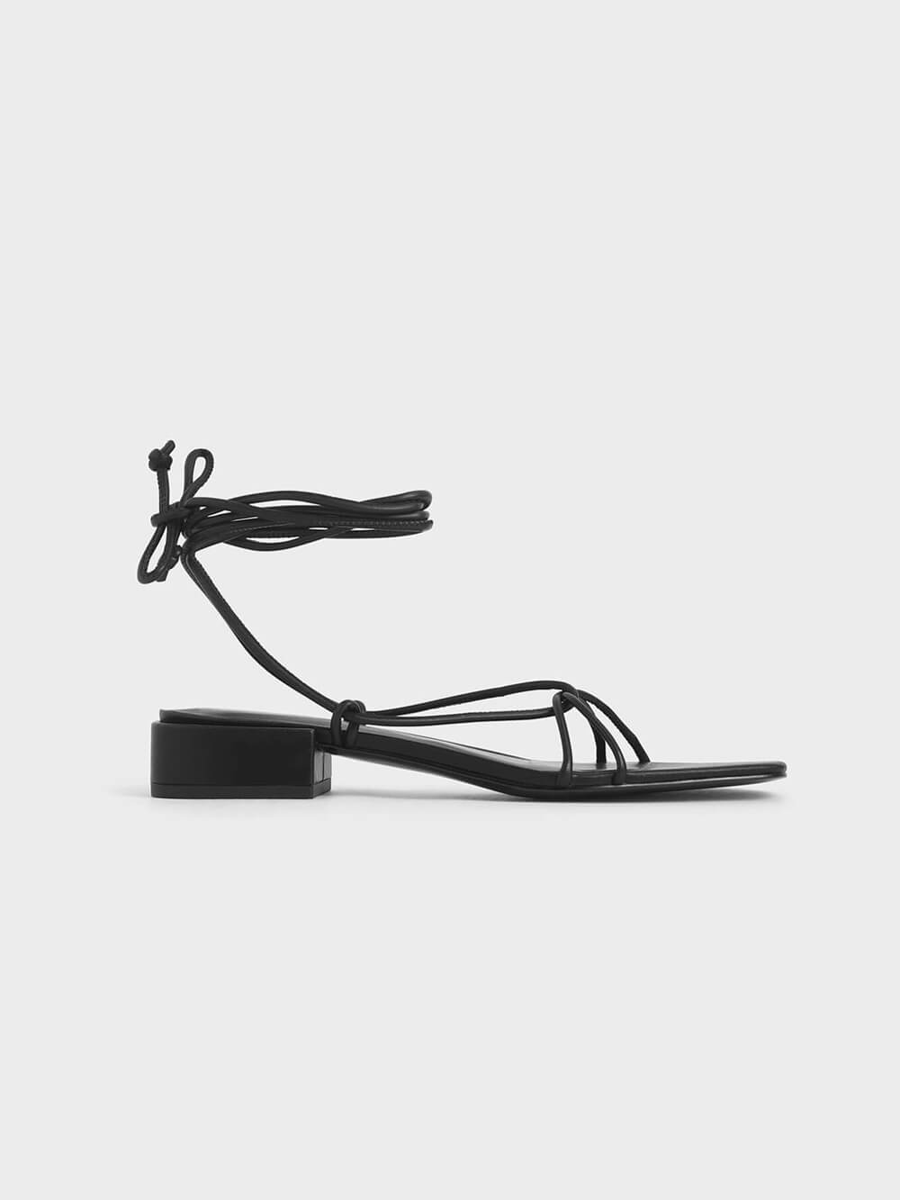 Strappy Ankle Tie Sandals