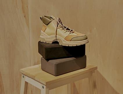 Women's textured high top sneakers in beige  – CHARLES & KEITH