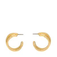 Hammered Huggie Hoop Earrings