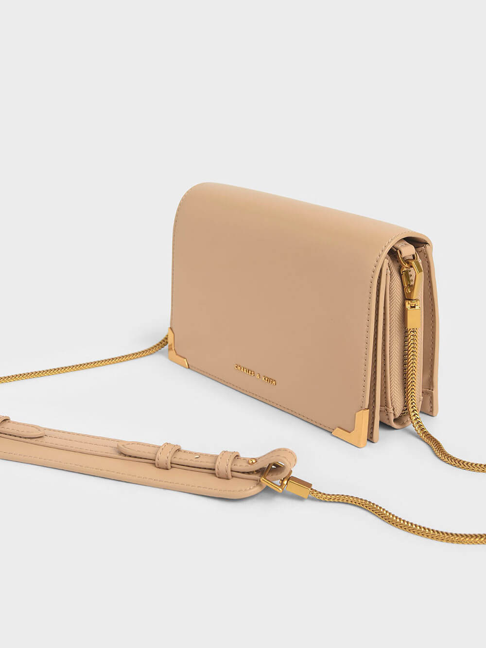 Metallic Edge Crossbody Bag